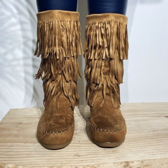 Bota India SHAGGY Camel Heve
