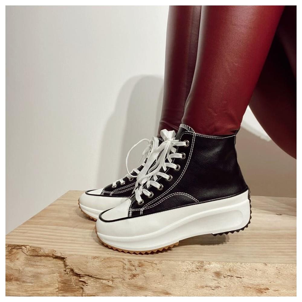 Sneaker Polipiel TROY Negro Heve