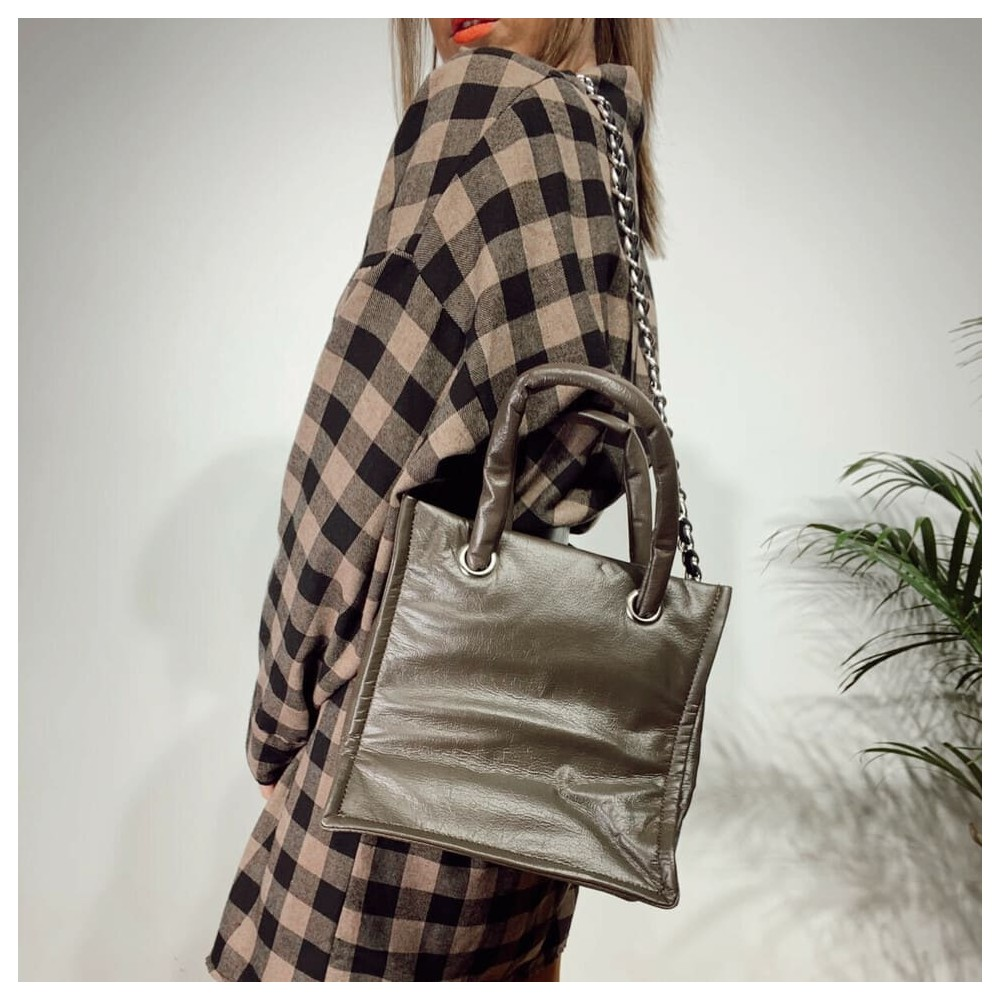 Bolso Volumen MAGALY Taupe Heve
