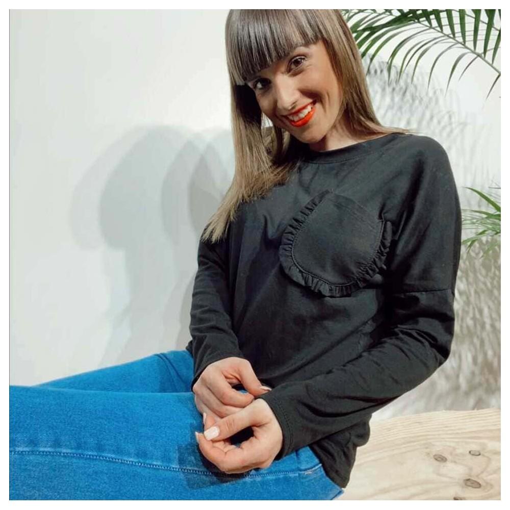 Camiseta Algodón BACCARA Negro Heve
