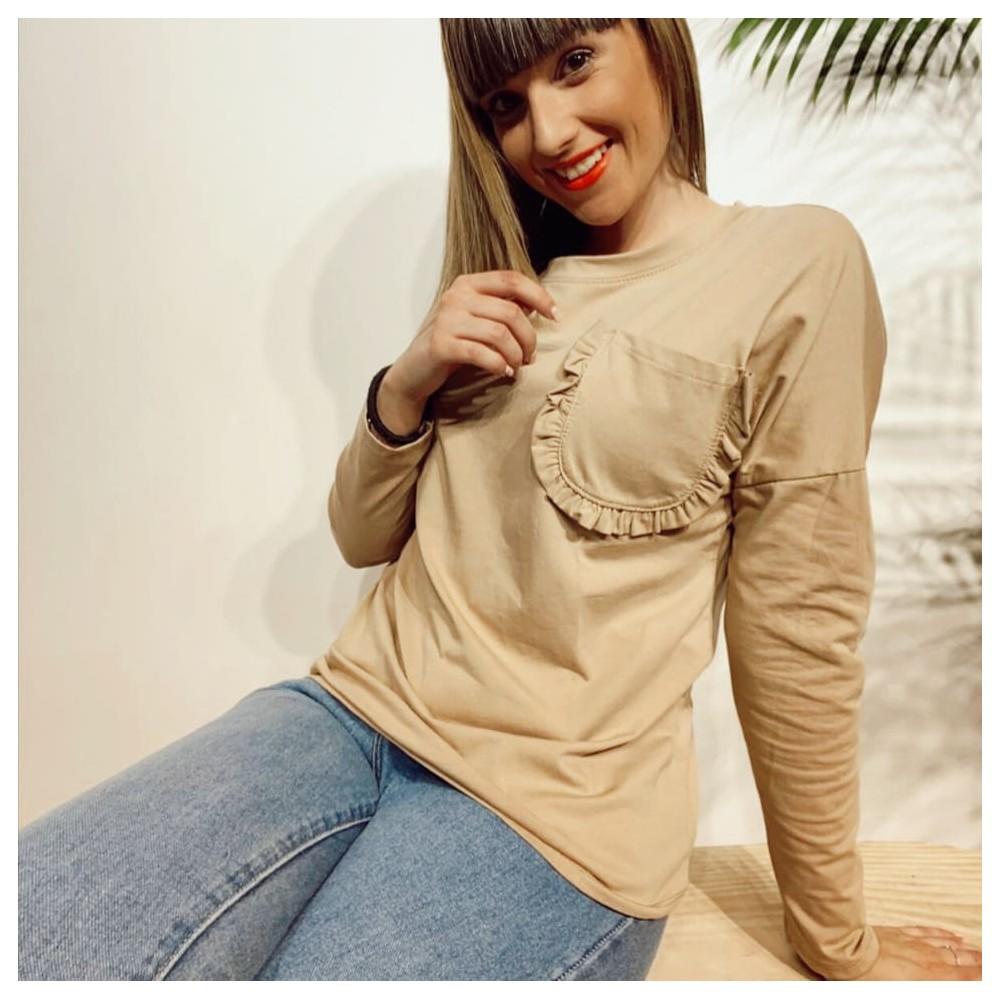 Camiseta Algodón BACCARA Camel Heve
