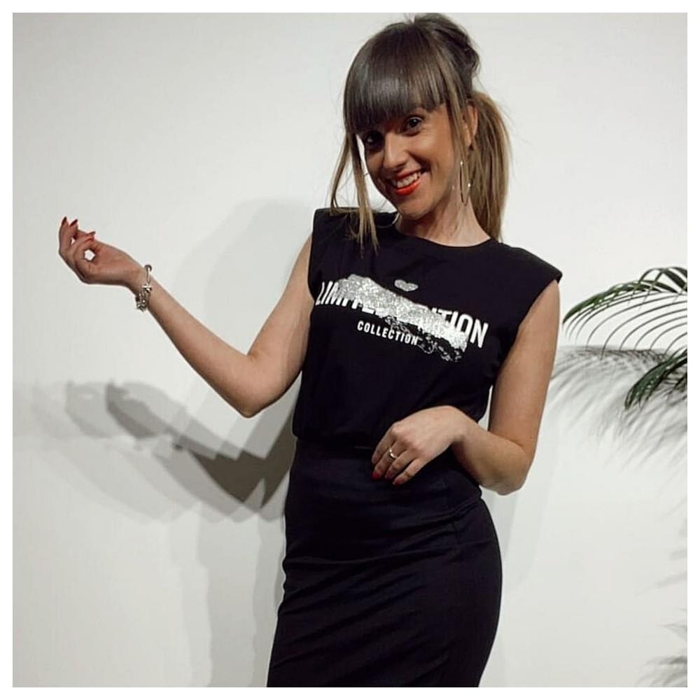 Camiseta Hombreras LIMITTED EDITION Negro/Plata Heve