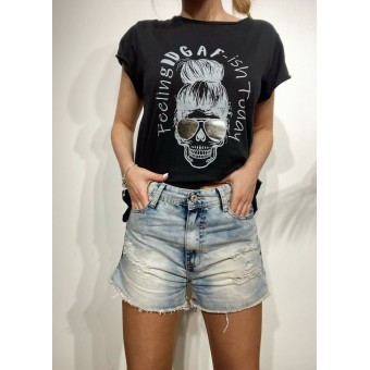 Short Denim Ripped FEVER Heve