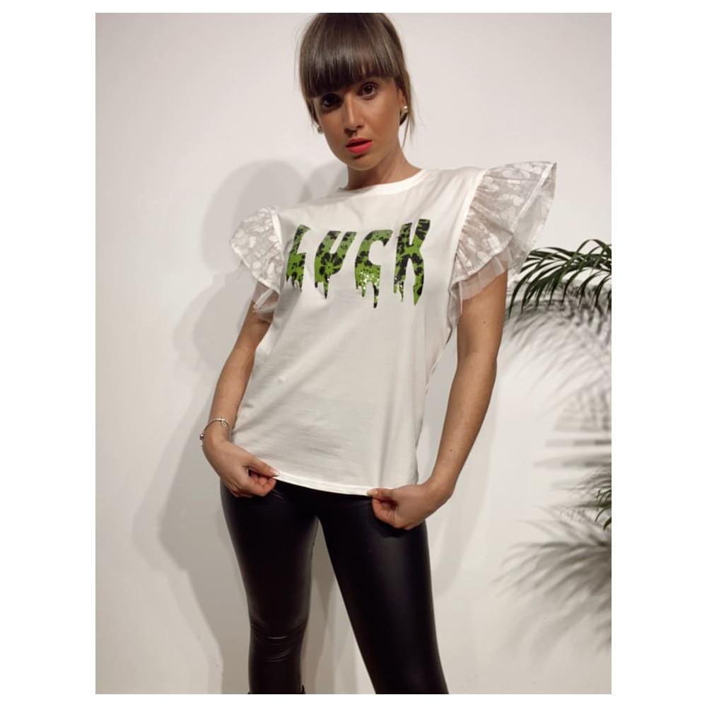 Camiseta Volantes LUCK Blanco Heve