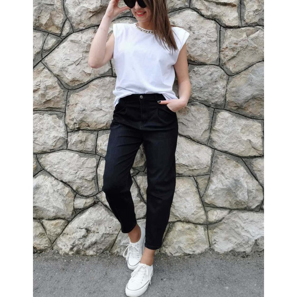 Jeans Mom Fit BLUSH Negro Heve