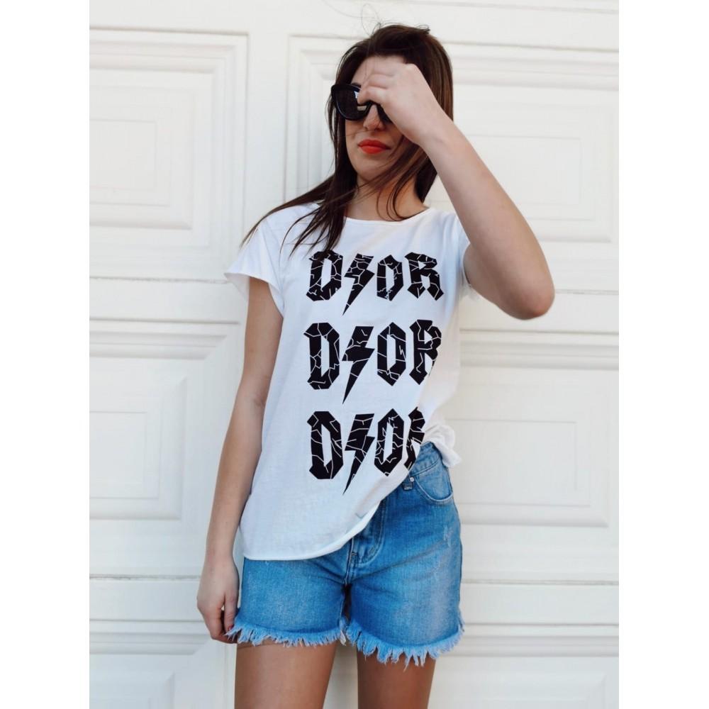 Camiseta Algodón DIOR Blanco Heve