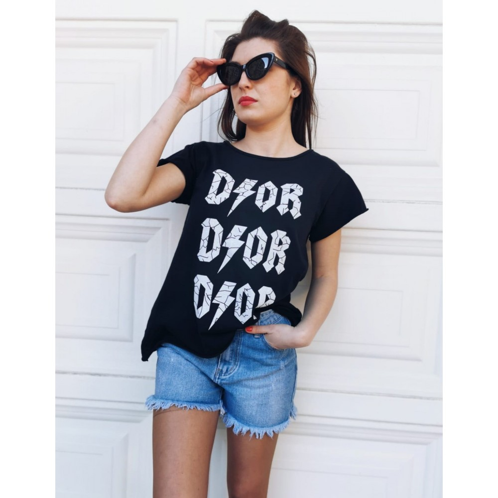 Camiseta Algodón DIOR Negro Heve