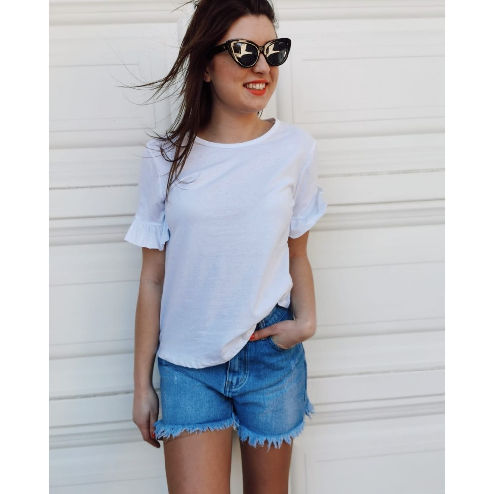 Camiseta Volante ASSIA Blanco Heve