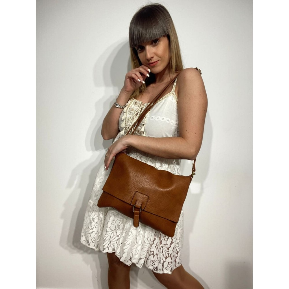 Bolso Rectangular YESTERDAY Camel Heve