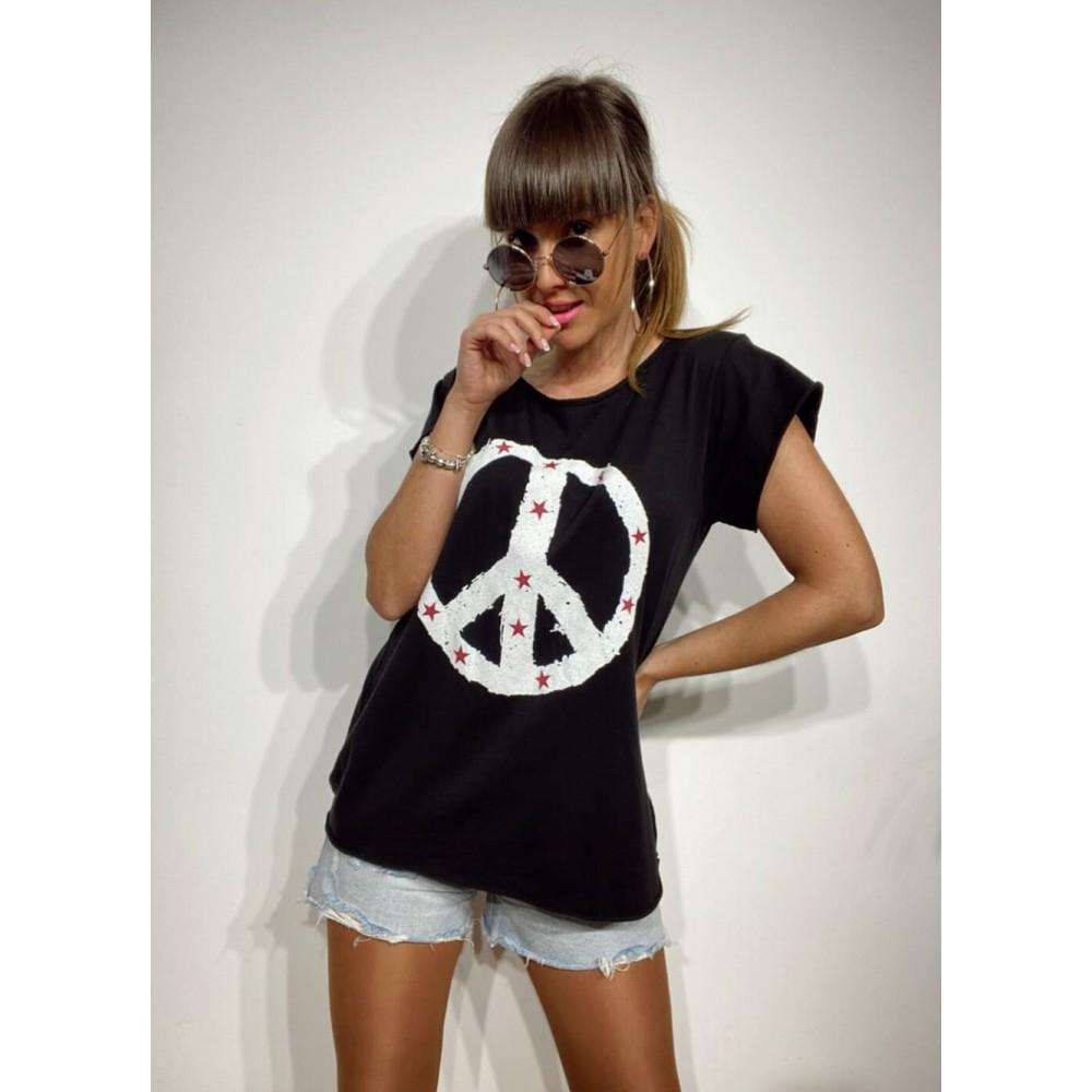 Camiseta Algodón STELLARIS Negro Heve
