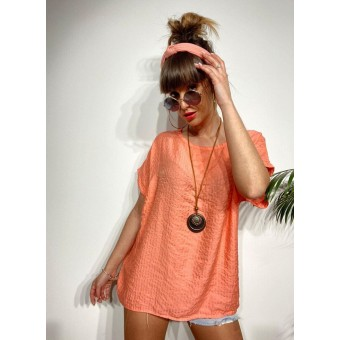 Blusa Oversize MOUSSE Coral Heve