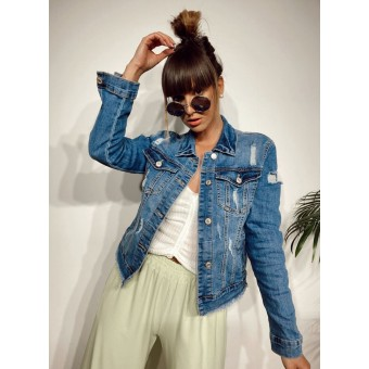 Cazadora Denim Ripped DESTROY Heve