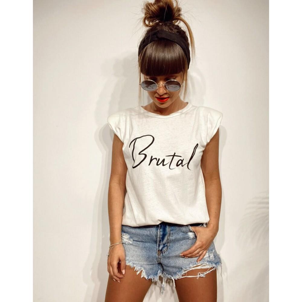 Camiseta Hombreras BRUTAL Blanco Heve