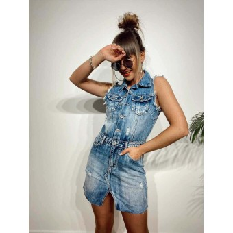 Vestido Denim Ripped SUTTON Heve