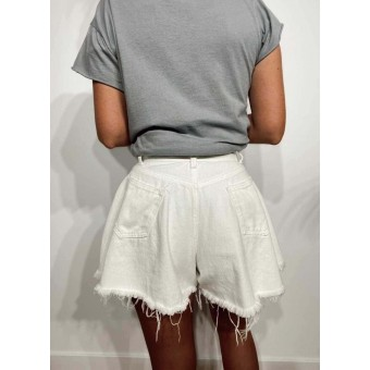 Short Denim Vuelo LULA Blanco Heve