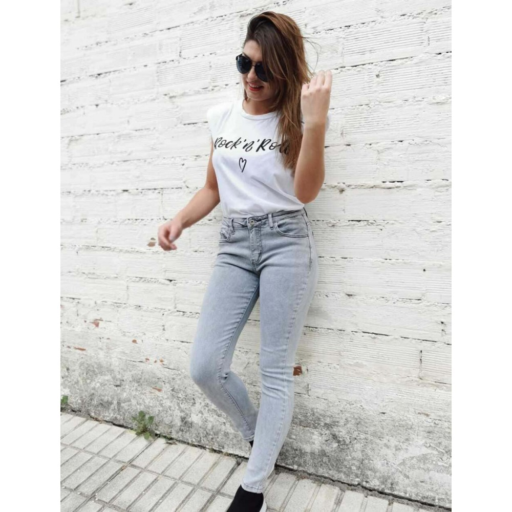 Jeans Pitillo INDIE Gris Heve