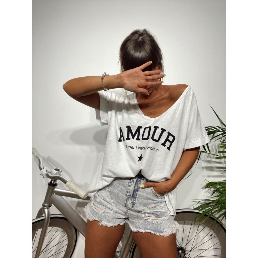 Camiseta Oversize AMOUR Blanco Heve