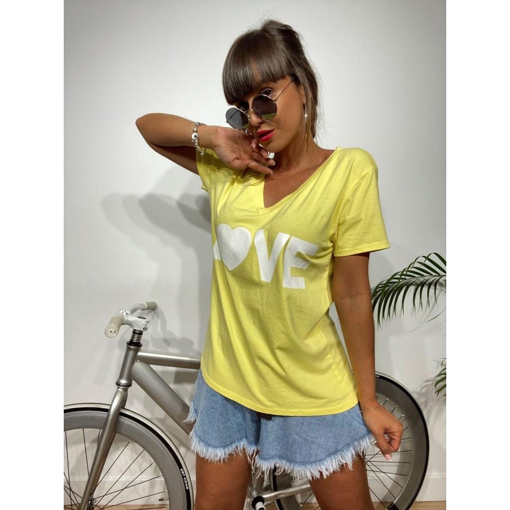 Camiseta Pico LOVE Amarillo Heve