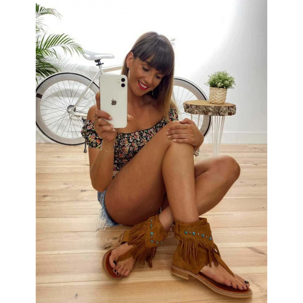 Sandalia Boho-Chic WAKANDA Camel Heve