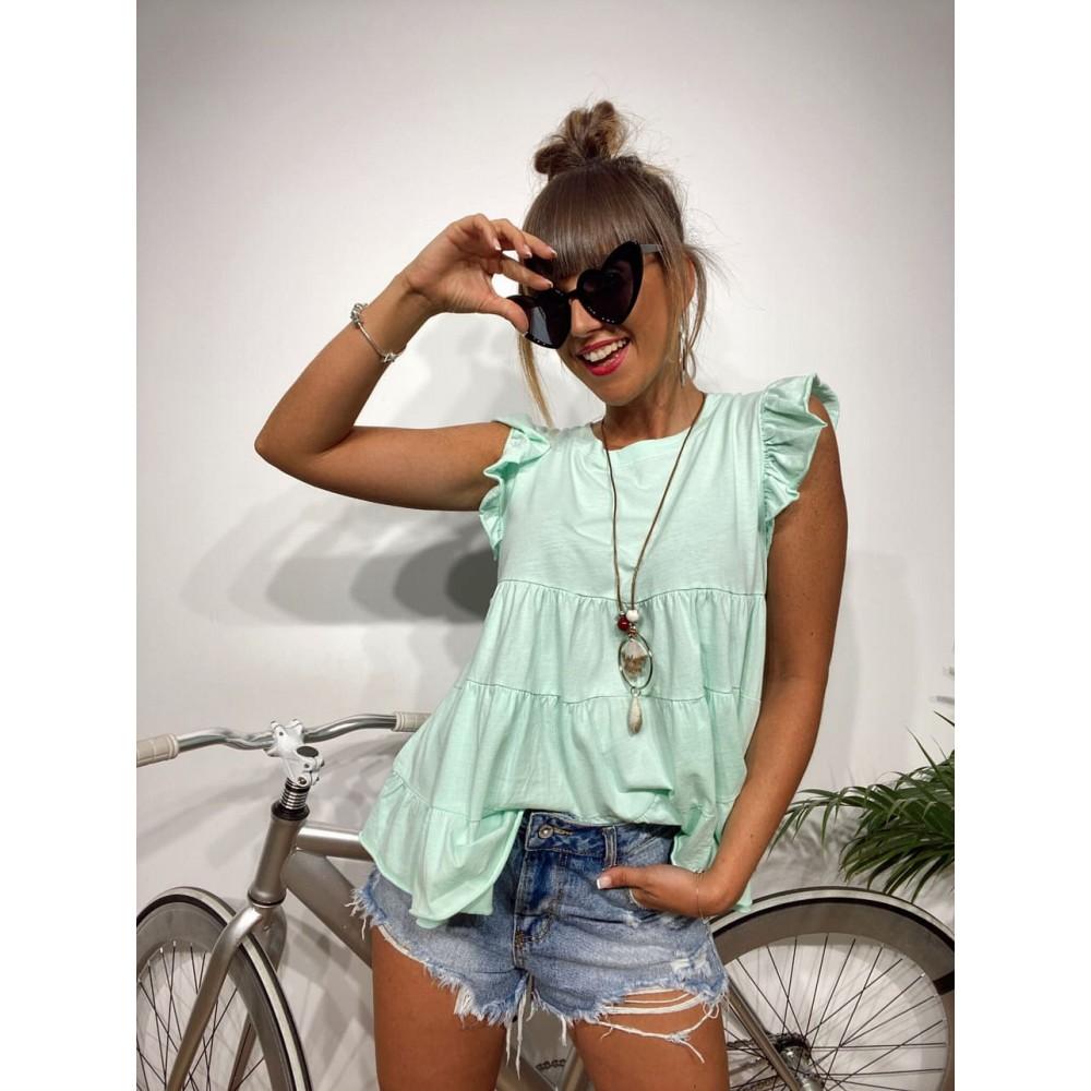 Camiseta Vuelo BLISS Aguamarina Heve